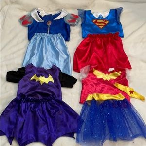 Bundle of Snow White & Super Heroes Girl Costumes